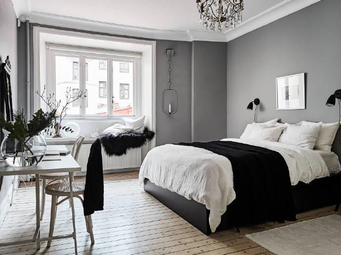 融科花满庭-北欧高级灰-二居室-装修案例设计说明图片