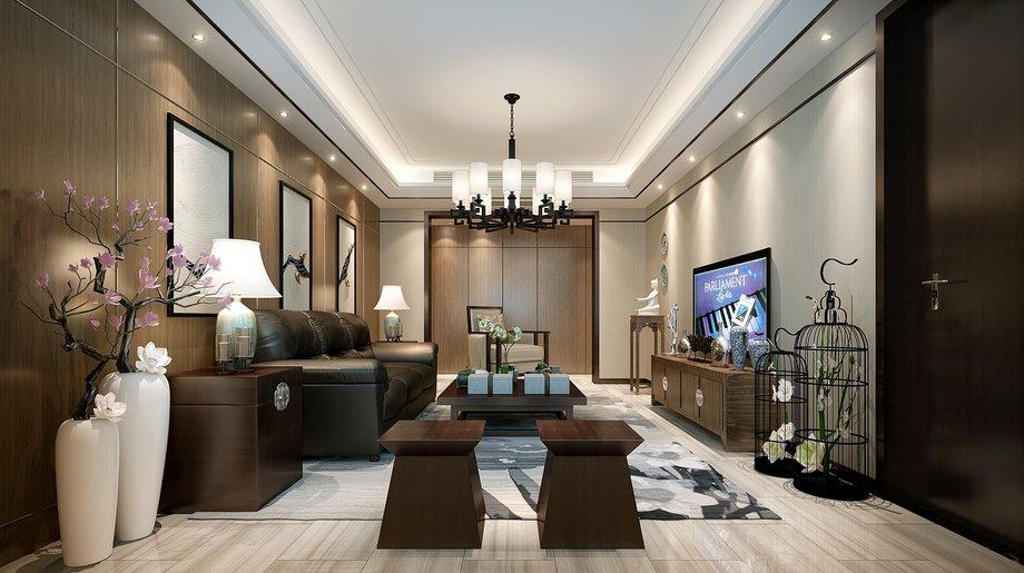 中式风格四居室精美装修,185.28平米的房子这样装才阔气!-绿城翡翠湖玫瑰园装修