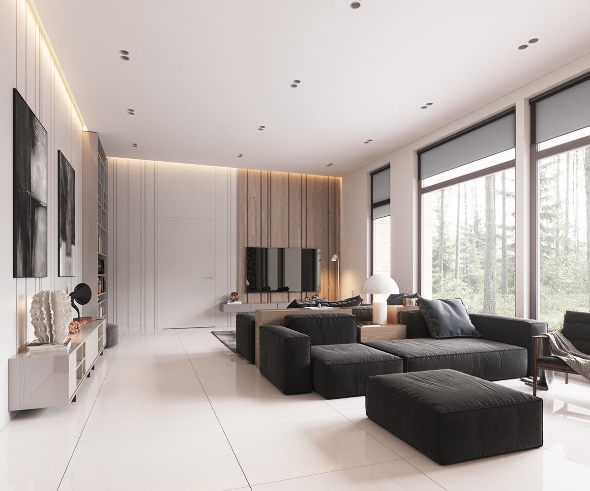 现代极简空间 130平温暖舒心三居设计