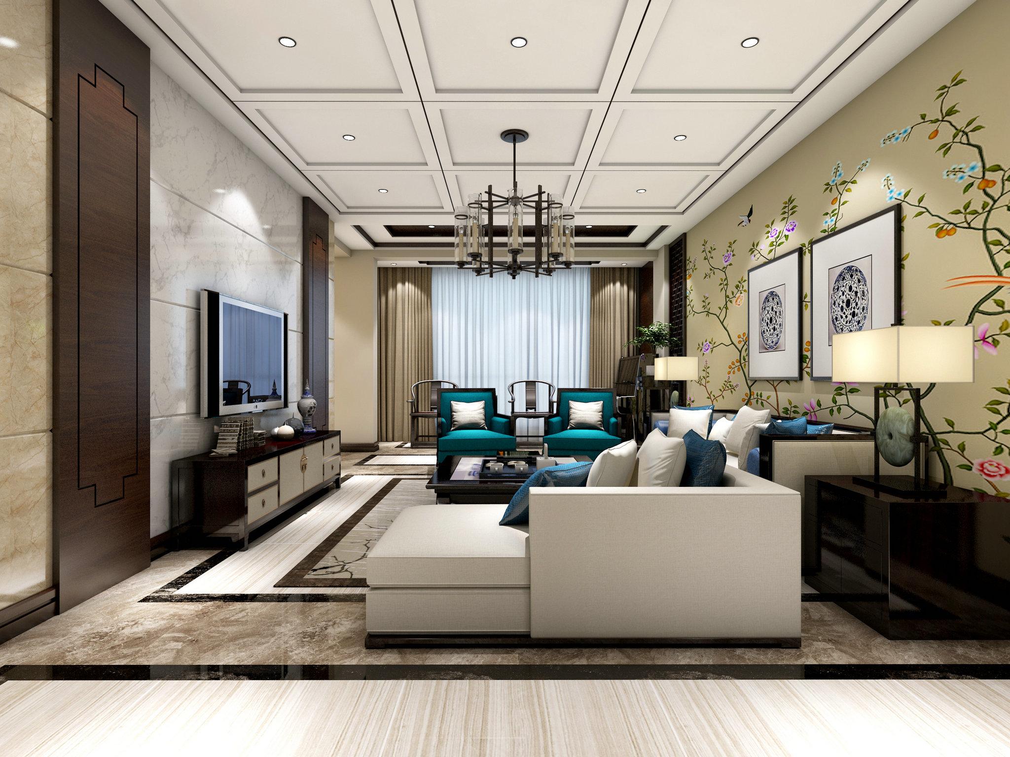 123万装修出416平米五居室中式风格,看过的人都点赞!-紫金湾装修