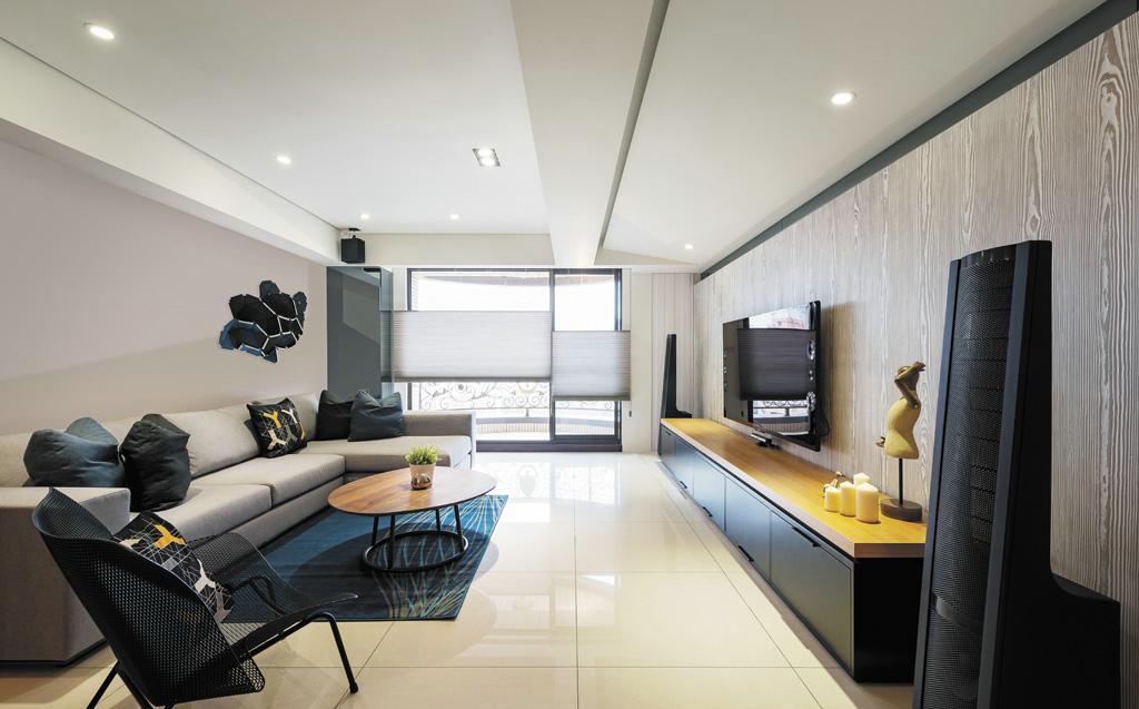 时尚型男单身宅 90平轻工业风现代公寓
