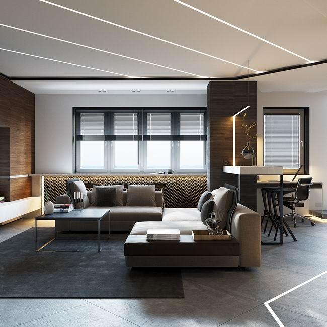 48平精致现代公寓 简约质感百变空间