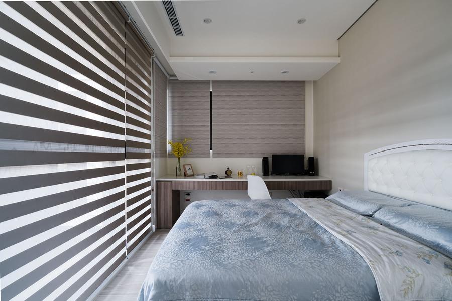 纯白暖意生活空间 56平现代简约一居室