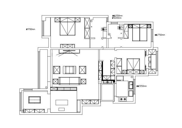设计师根据家庭人口 结构 年龄定义为简单稳重不失内涵的新中式。新中式风格讲究空间的层次感和布局的对称性。注意空间的层次感和通透性,运用了大量的直线条的元素和产品造型,更符合现代快捷舒适的生活要求。