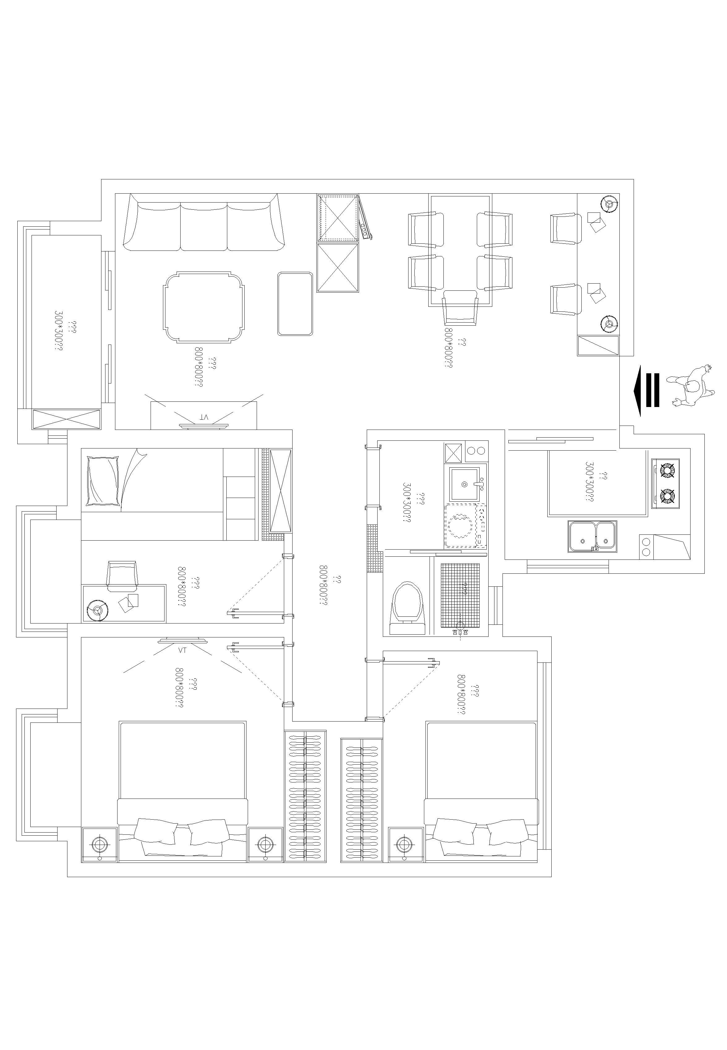 太湖上景花园-新古典-三居室