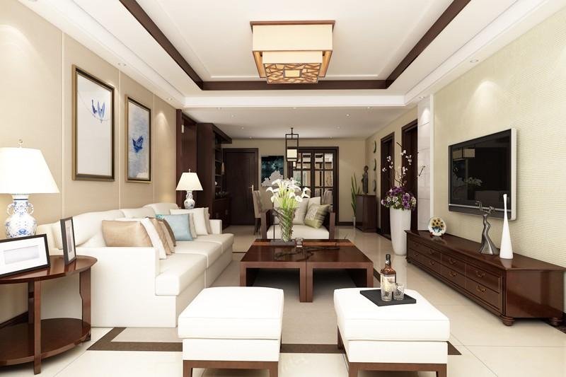 本案常住人口四人,要求舒适,设计要比较新颖有创意,空间利用合理,三个卧室都居住。主题为新中式风格,简约、成熟、稳重的生活空间。