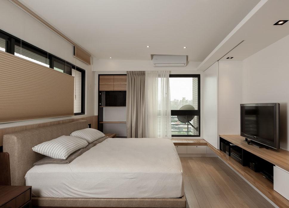 强调卧眠的舒适感,设计以简约的北欧调性舒展一天的疲劳。