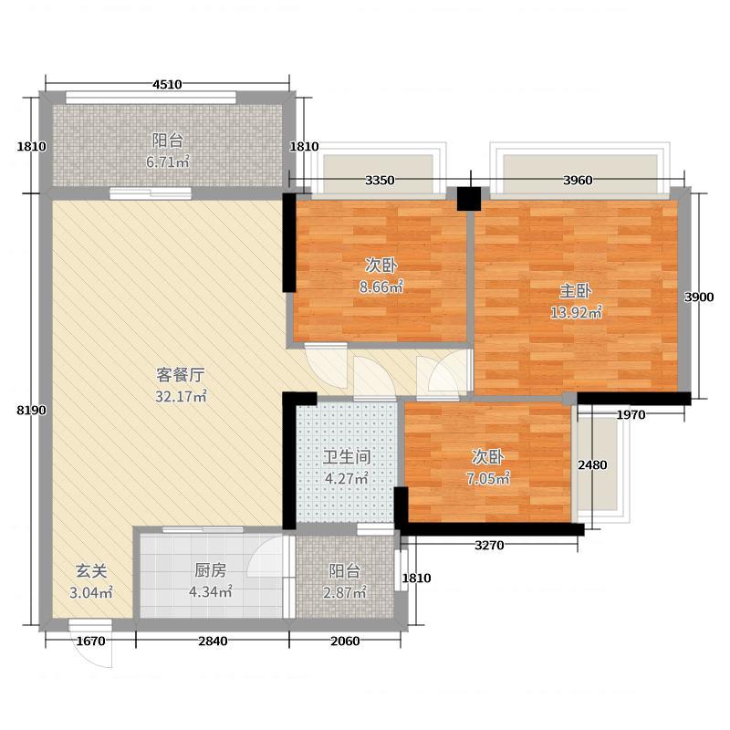 现代简约新鸿基·御华园100方三居室全包10