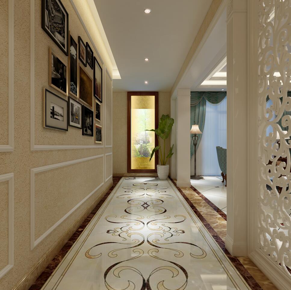 走廊墙面设计成相框。