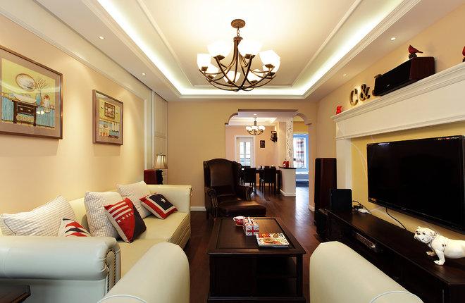 美式寶興翠園三居室90方三居室全包9萬