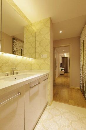 现代简约合生湖山国际131方三居室全包12万