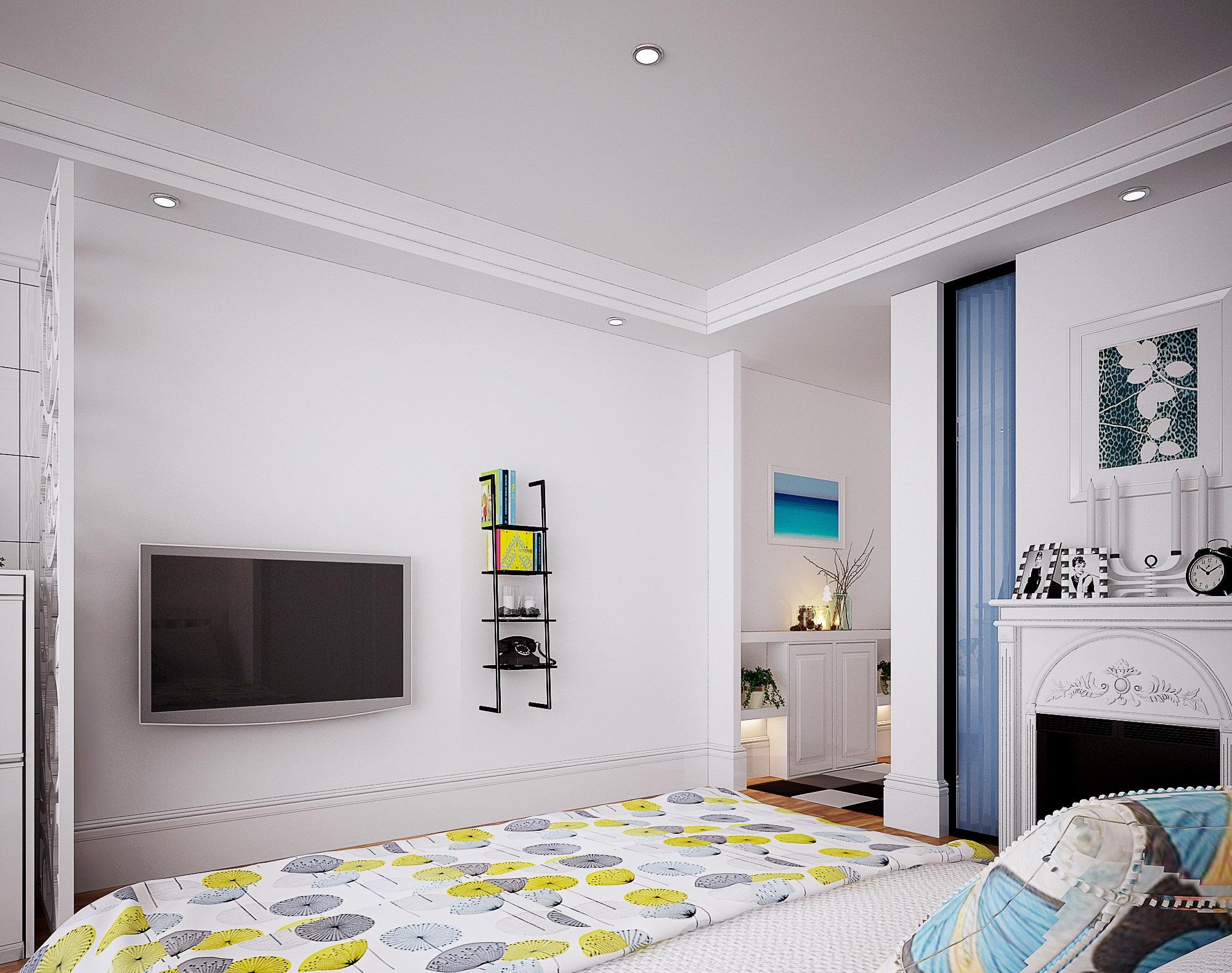 此案例为信地城市广场单身公寓,业主是一对年轻的小情侣,这套公寓只是过渡性住房,所以要求不是太高,整体造价不要太高,要求设计师尽量把空间利用上,风格偏向于北欧,整体空间尽量通透。设计师结合业主要求,出此设计方案