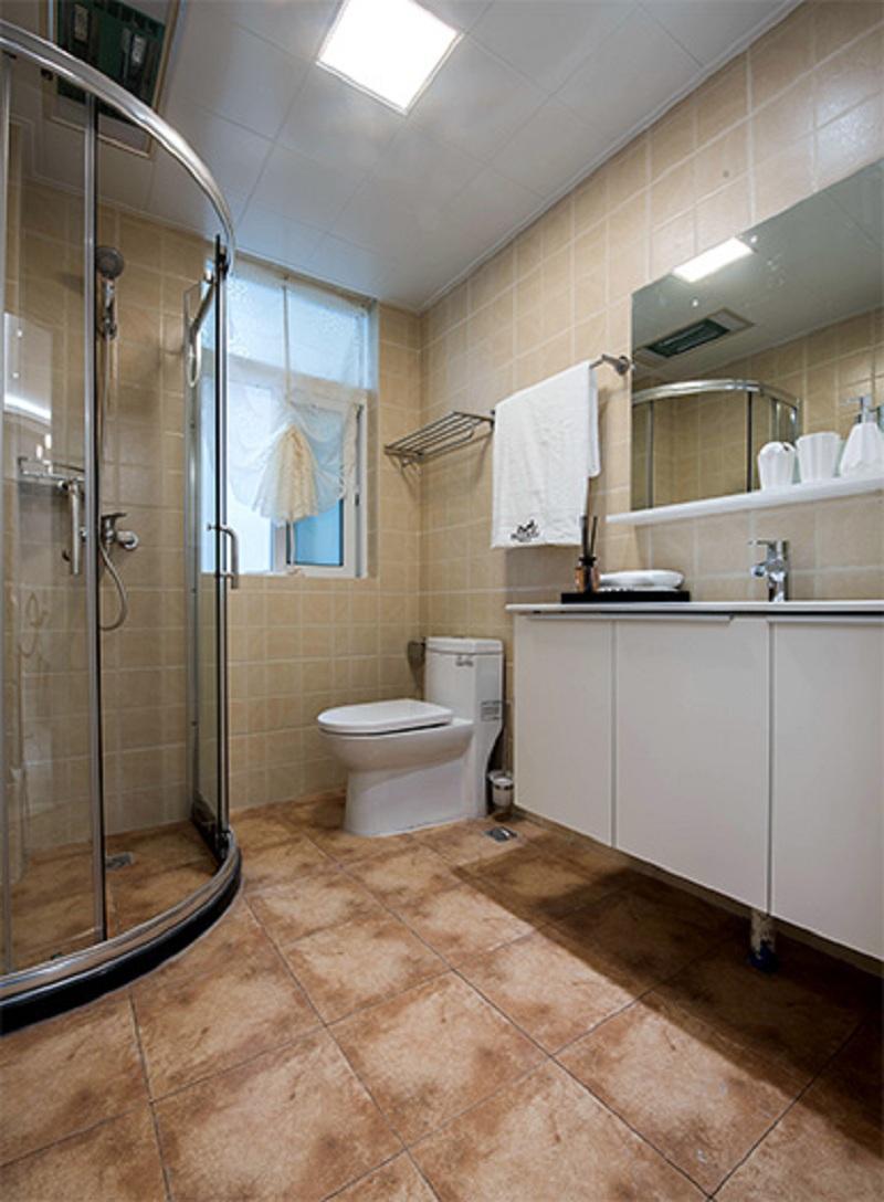 卫生间 卫浴空间简洁大方,干湿分离,地砖防滑防水,实用安全。