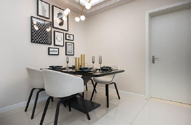 餐厅 餐厅时尚简洁,落落大方,相片墙使得空间简单而不单调。