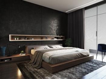 背景墙 床 房间 家居 家具 设计 卧室 卧室装修 现代 装修 350_262图片
