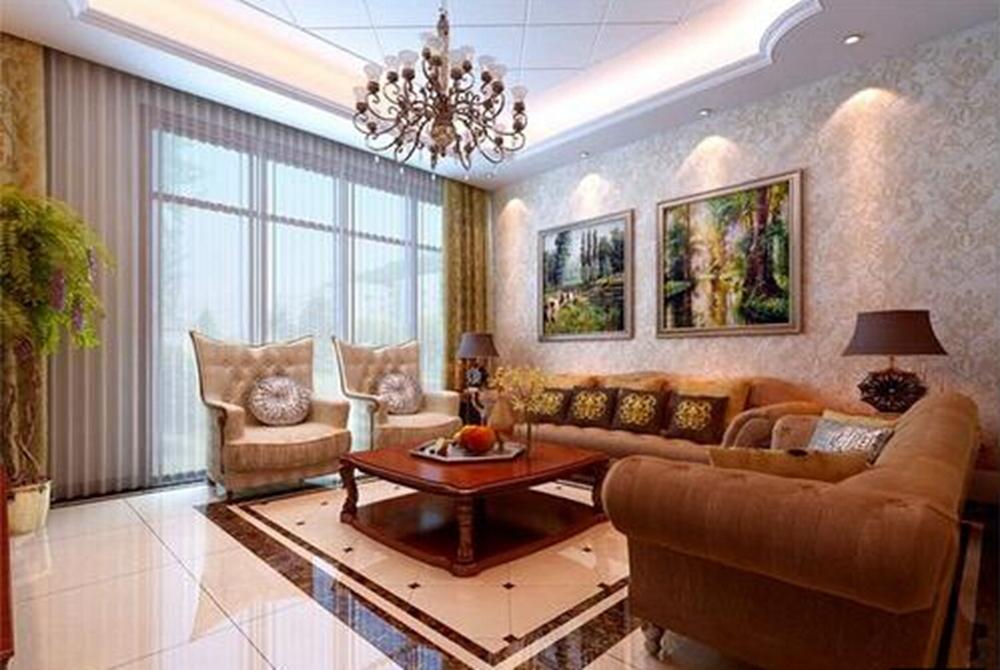 北京宝能城中式风格三居室装修效果图_118平米8万装修图片