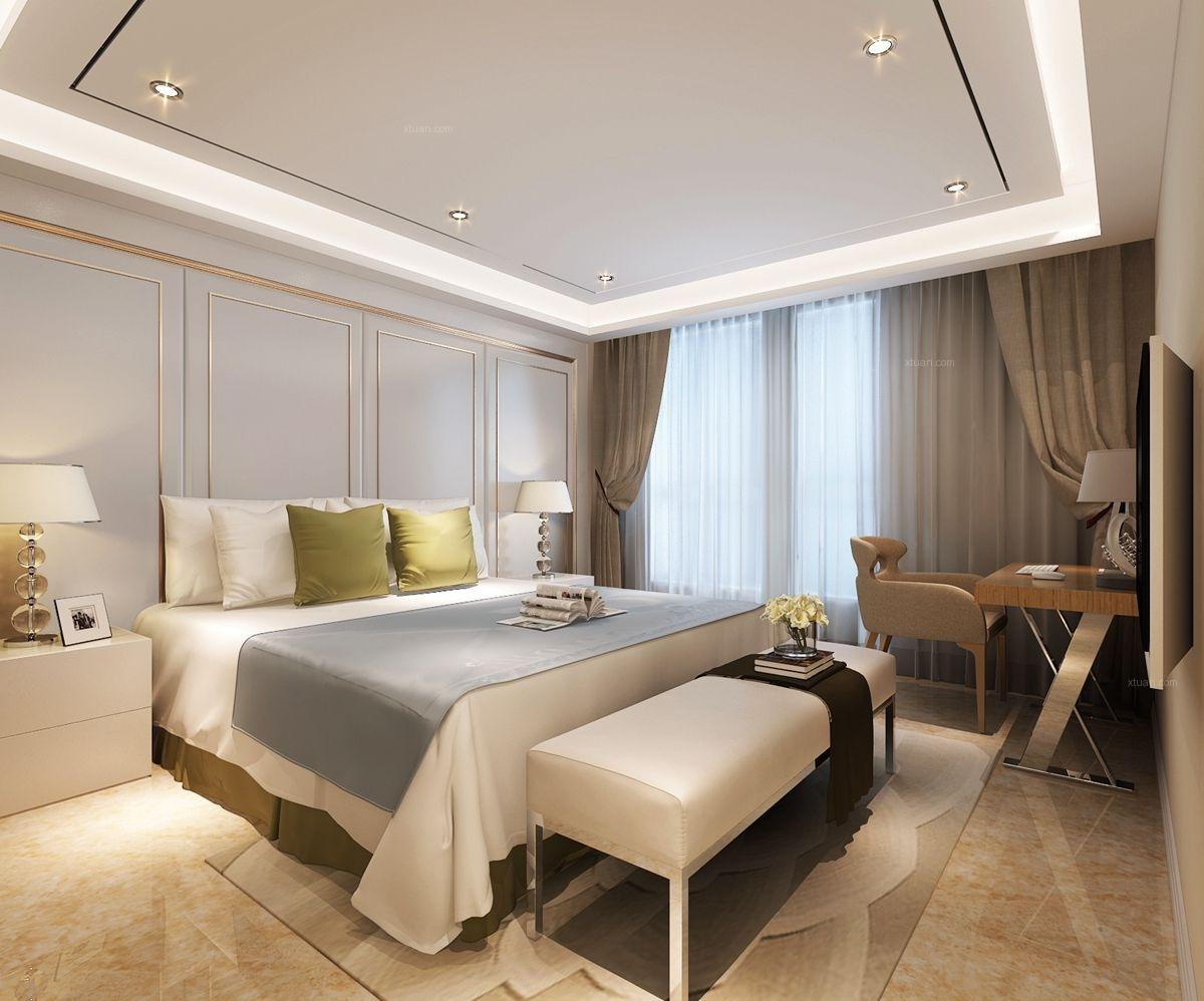 【实创】葛洲坝北欧风格之卧室效果图图片