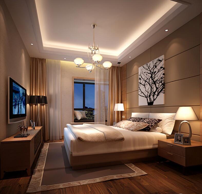 卧室地面采用条纹木质地板简约时尚,简约却质感上乘的床品带来舒适的睡眠质量,这就是卧室的重中之重。