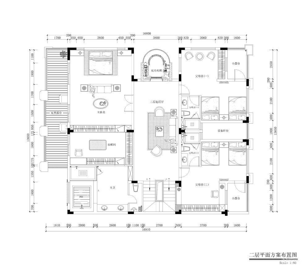 中海誉城别墅二层户型图