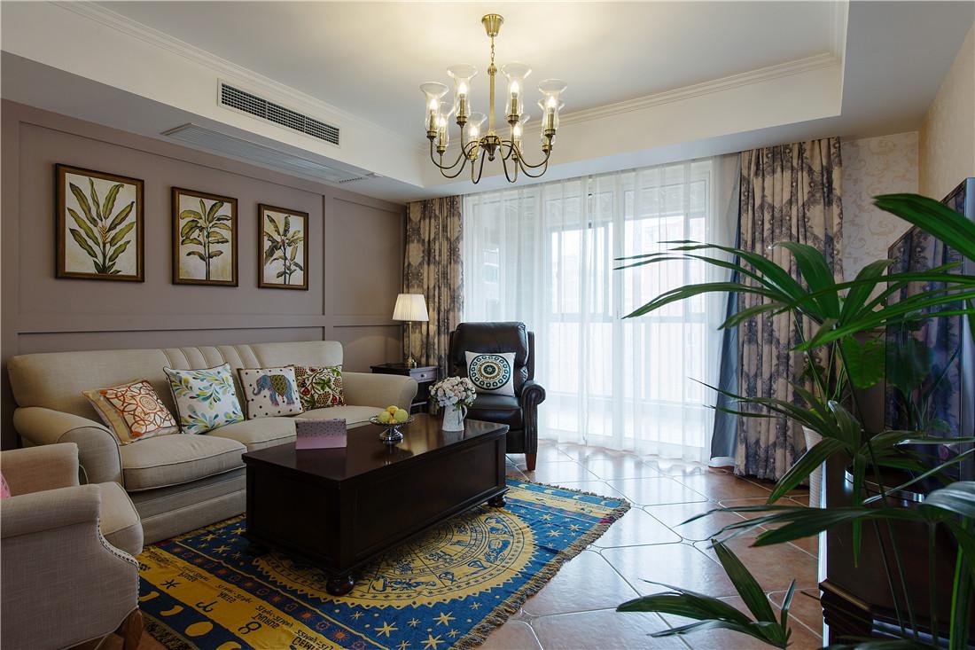 地毯加上地砖更衬托出大气的氛围