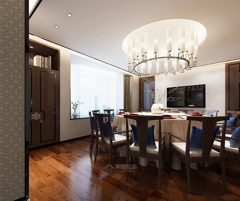北辰三角洲 中式风格四居室 ---- 客餐厅