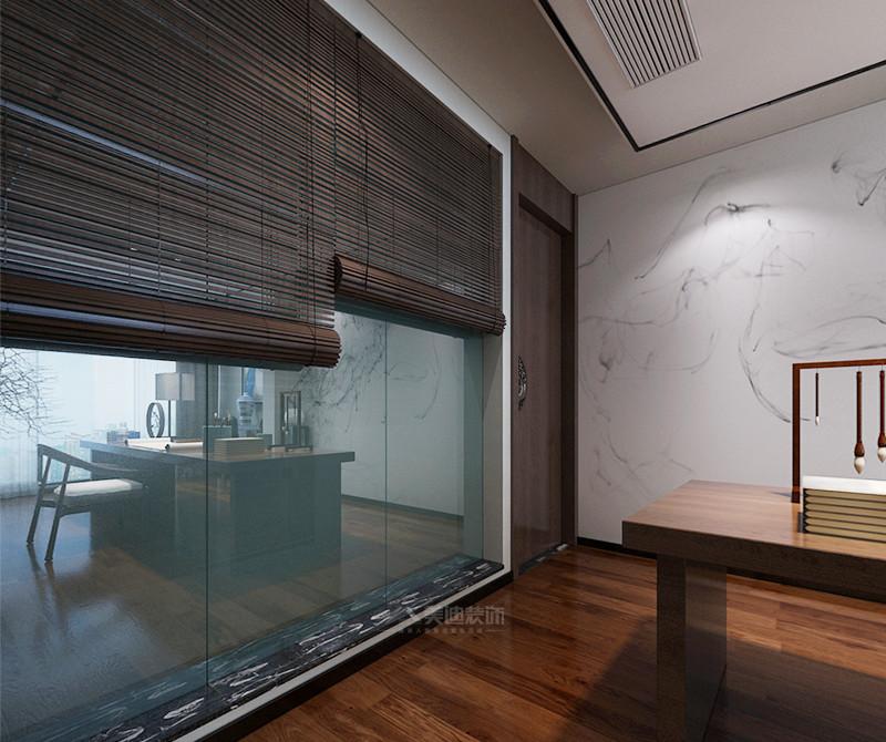 北辰三角洲 中式风格四居室 ----阳台