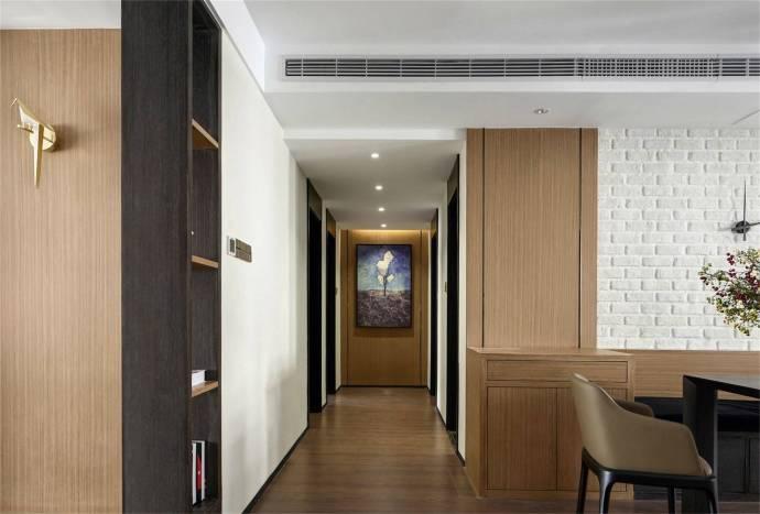 简约现代风格家居装修,黑白色调与木纹总能搭配出清新又具格调的家居氛围?,厨房重新规划成开放式厨房,与餐厅一体。