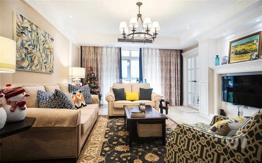 地毯不再是我们日常生活中可有可无的东西,在这个空间里地毯很好的提升了家里的档次和舒适度。