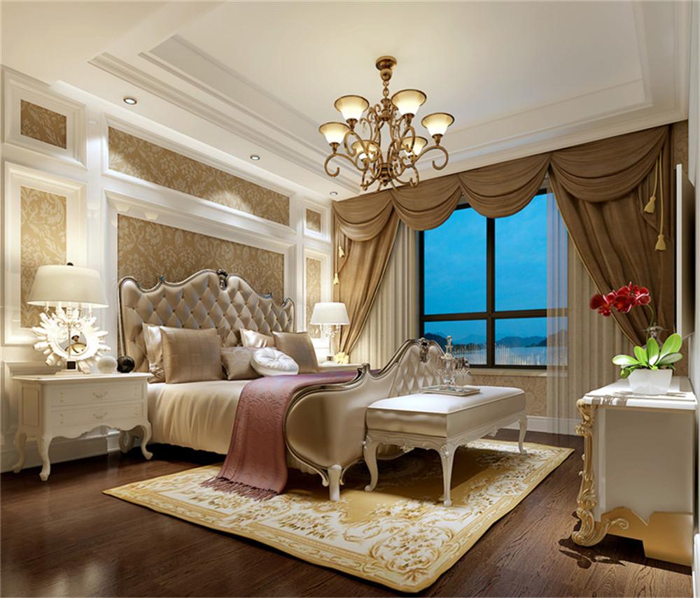 本案:白色调时尚温馨不突兀,客厅的白色墙面发出的是淡雅清新的现代简欧味道,时尚的米白色调沙发与电视背景墙的呼应,让整个客厅营造出时尚、高贵、轻松、愉悦的视觉感空间,营造出一个朴实之中的时尚简欧家居设计。