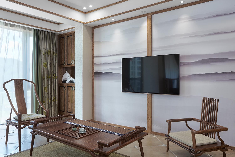 中式古典三居室装修效果图140.53平米7.70万中式古典图片