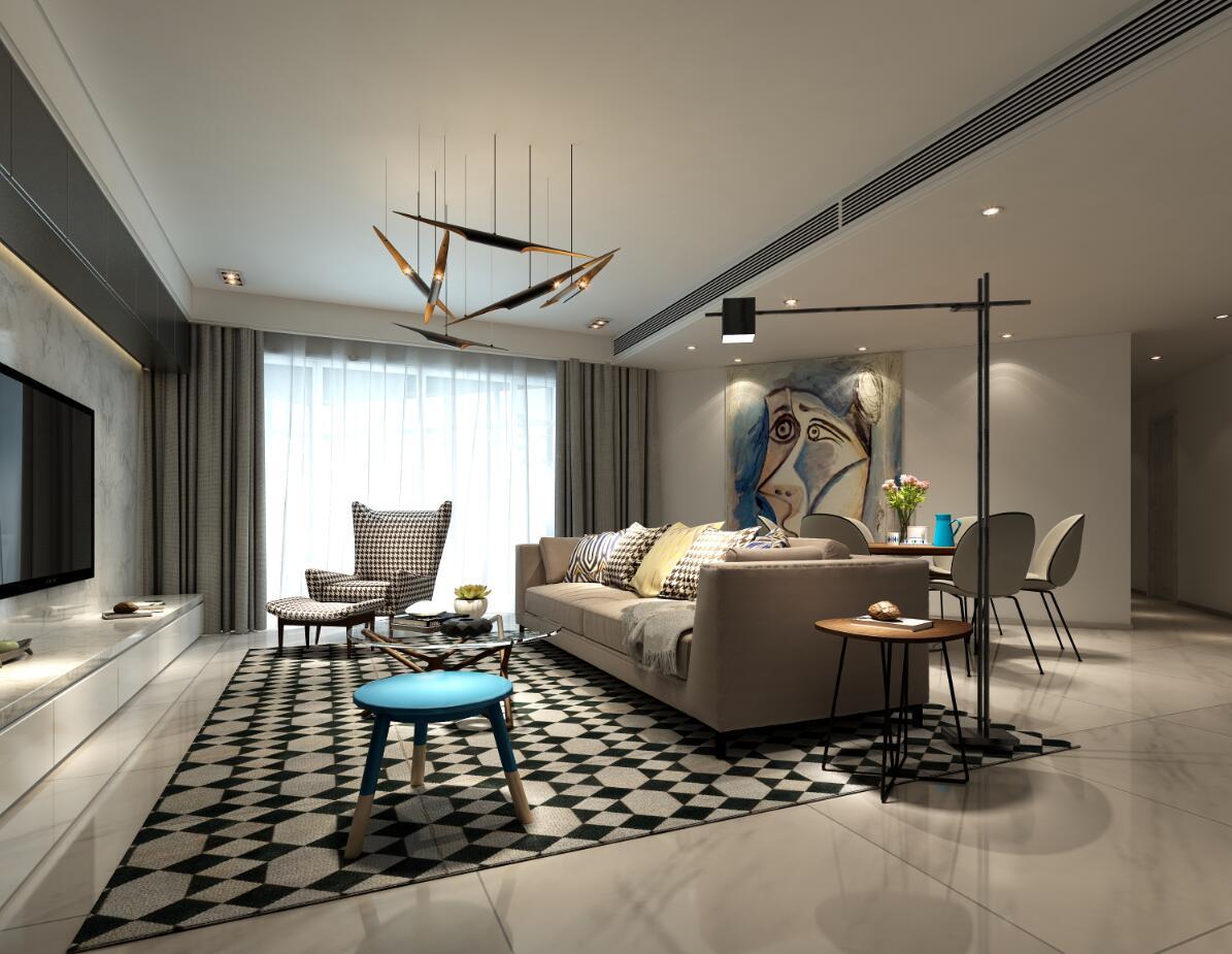 华景新城-四居室-140�O-装修设计