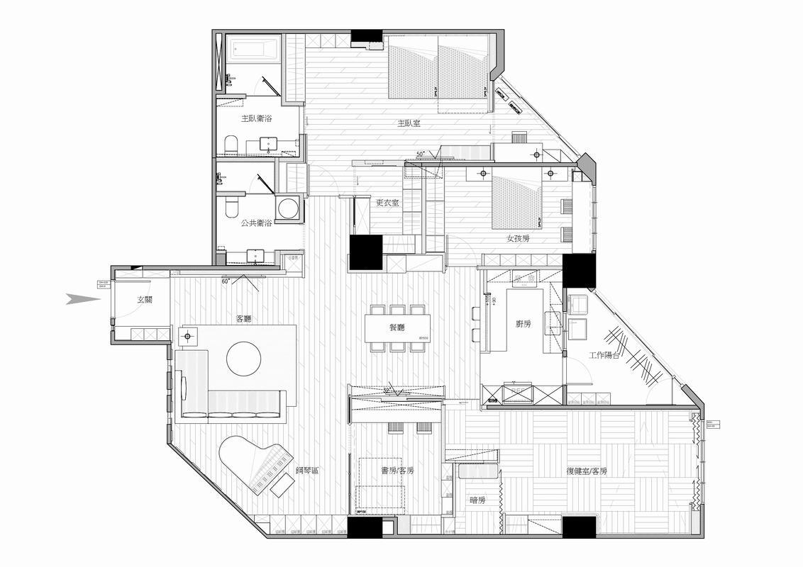 北欧现代风格是指继承了原有的尖屋顶、斜屋面、石木结构的基础上增加了大面积的采光玻璃及现代派钢结构。其结构简单实用,建筑结构之间体现内装修风格,没有过多的造型装饰。原始石材面及木纹暴露于室内,但其主题又偏向于现代钢木结构,室内效果形成了现代与古典相结合的效果。
