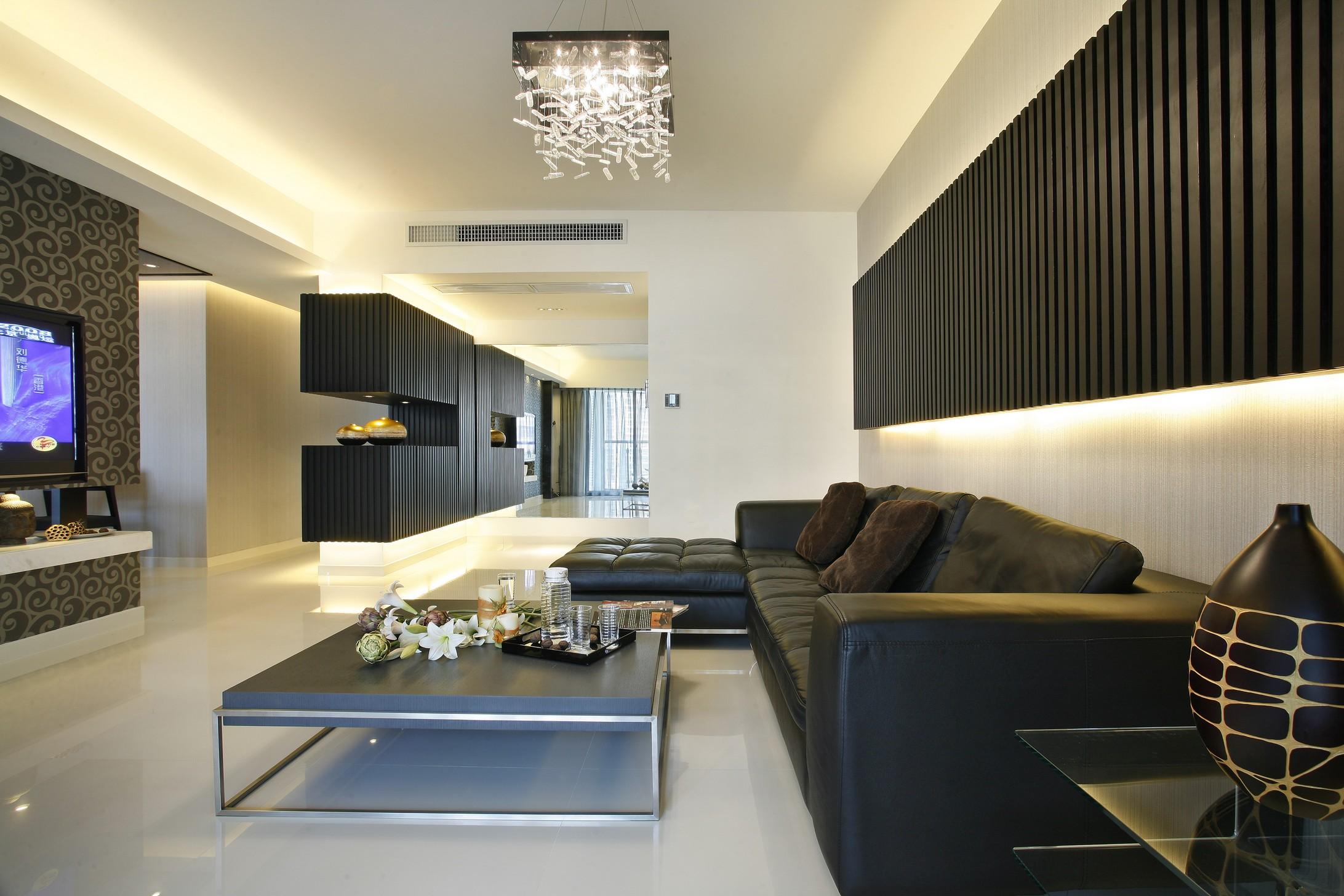 黑白元素的经典运用,让空间独居一格,绝不雷同,满足业主的需求