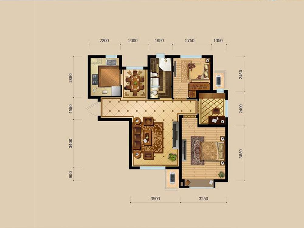 简单房间布局图图片