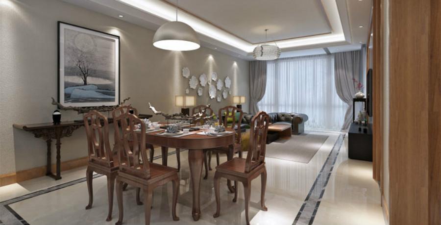 业主比较喜欢中式红木家具,而又不想使别墅设计成传统中式,因此我在设计过程中基本确定为现代的风格穿插部分地方中式元素地面采用亚光瓷砖,但围边采用中式回子形。整体感觉既很现代又比较中式传统的味道。圆满达到客户的要求。