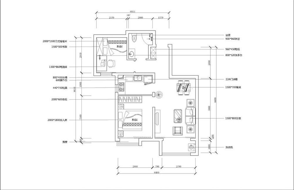 首先从入户门进去顺时针方向分别为客餐厅,主卧,厨房,次卧,卫生间。客餐厅相对,整体布局较好,客厅配有阳台,采光充足,视野开阔;厨房面积较大,方便厨具家电摆放;主卧设有飘窗,采光充足。房子里基本设施配备齐全,整体很标准,居住舒适度高,使用方便。