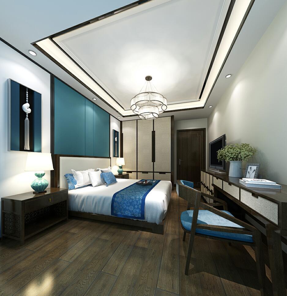 中式风格三居室卧室吊顶手机认证送8-88彩金效果图大全