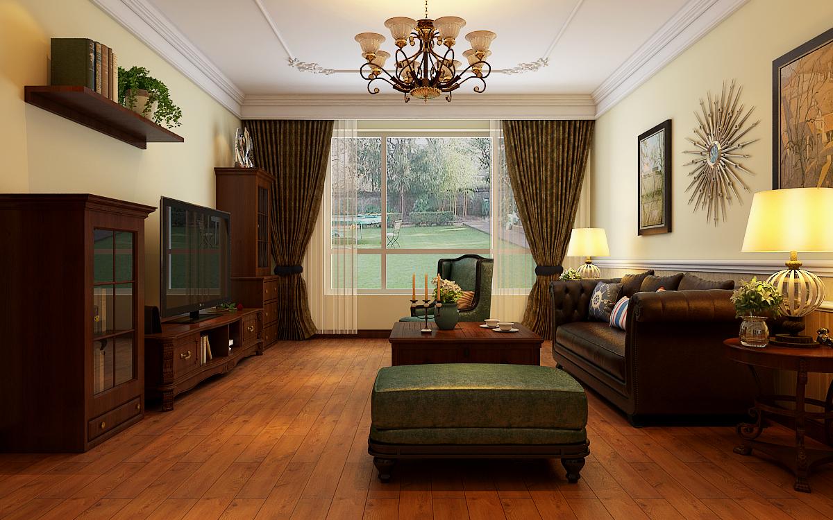 背景墙主要以后期家具软配为主,从而达到轻装修重装饰效果