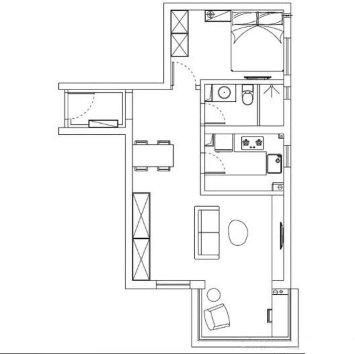 装潢材料与颜色设计为现代作风的室内效果提供了空间违景。