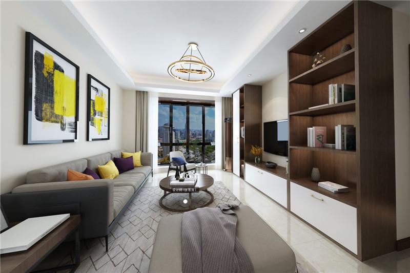 既要经得起时光的历练,也要居住得很舒适,暖色的装配摆件与冷色的沙发、地毯形成视觉的反差,给人每天都不一样的享受。电视两旁做成书架,显得整个空间的设计更加的走心,简洁的沙发和木质的茶几注入,为整个空间增添了一份特别的气质与温馨,让居住者感受到更为舒适的家居生活。