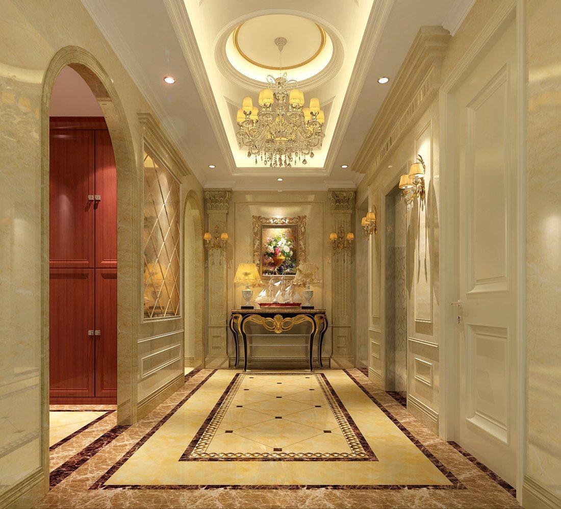 西式古典四居室玄关走廊装修图片