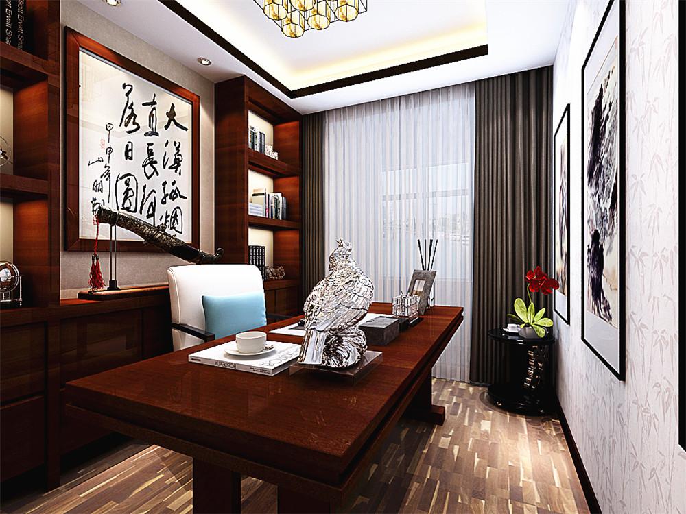 客厅的设计上,客厅沙发的背景墙采用了传统的屏风,作为装饰的作用,既