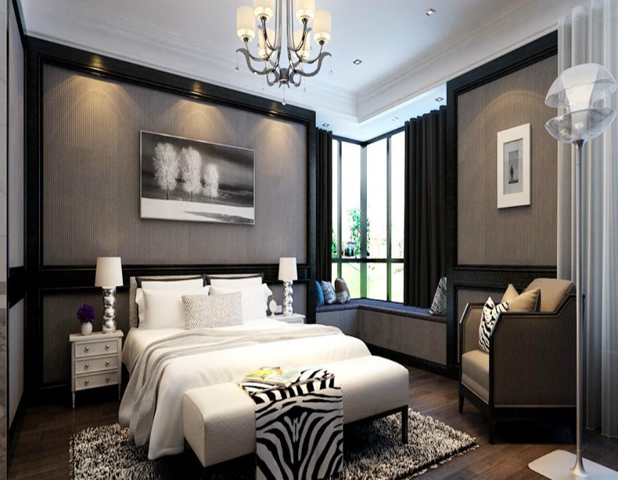 本案为美式轻奢的定位,代表着自由与贵气低调与奢华进取与传统,以高品质、设计感、舒适、简约为特点。整个空间以灰色为基调,灰色的内敛、朦胧、低调,烘托出软装的精致和质感,赋予了高贵的气质,让饰品在灰调的空间显得更加精彩夺目。