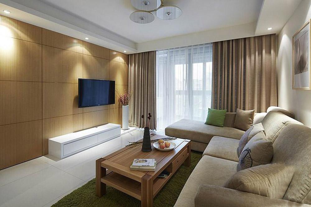 现代简约三居室102平米12.7万_雅居乐国际花园装修-房