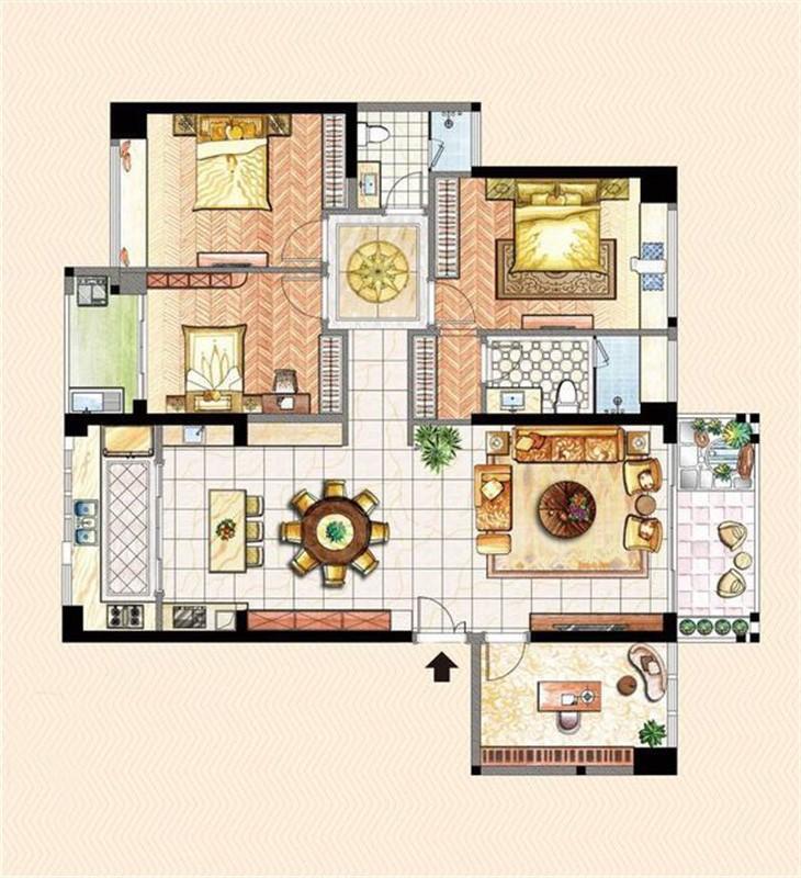 新天地广场四室两厅户型图