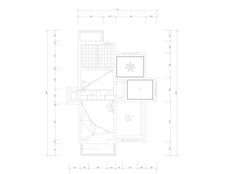 地面棚面造型图