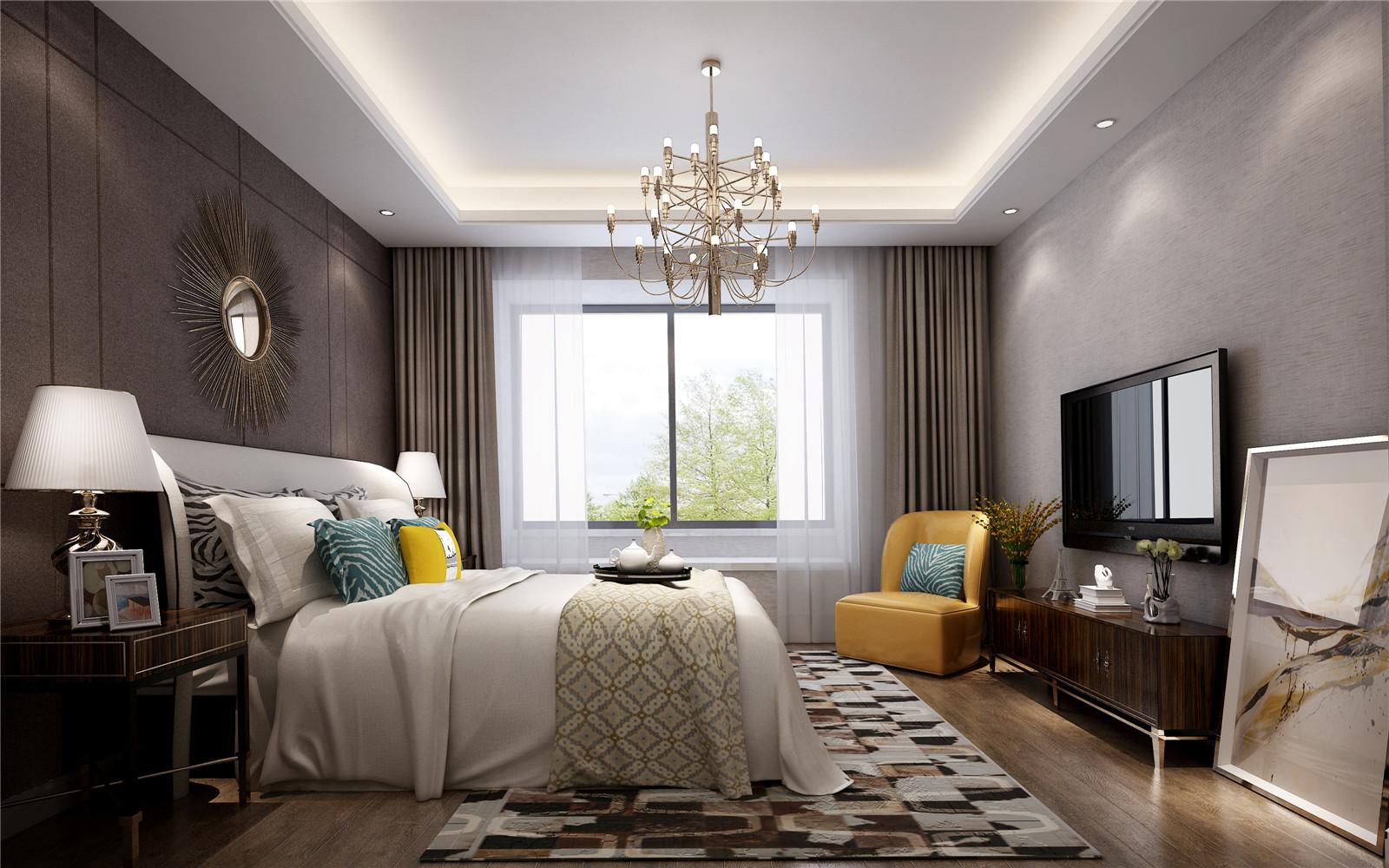装饰材料与色彩设计为现代风格的室内效果提供了空间背景。 首先,在选材上不再局限于石材、木材、面砖等天然材料,而是将选择范围扩大到金属、涂料、玻璃、塑料以及合成材料,并且夸张材料之间的结构关系,力求表现出一种完全区别于传统风格的高度技术的室内空间气氛。在材料之间的关系交接上,现代设计需要通过特殊的处理手法以及精细的施工工艺来达到要求。 其次,现代风格的色彩设计受现代绘画流派思潮影响很大。通过强调原色之间的对比协调来追求一种具有普遍意义的永恒的艺术主题。装饰画、织物的选择对于整个色彩效果也起到点明主题之作。