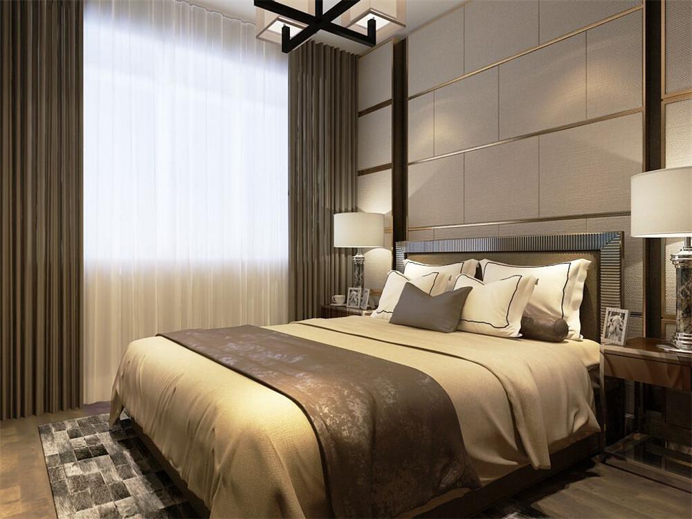 整体上主卧和次卧也是没有复杂的修饰,地面均采用复合木地板,家具以及壁纸也是大多选用木色,以达到统一。