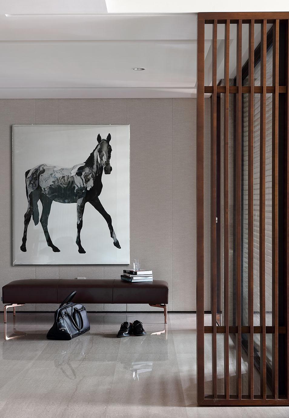 现代简约六居室玄关隔断装修效果图