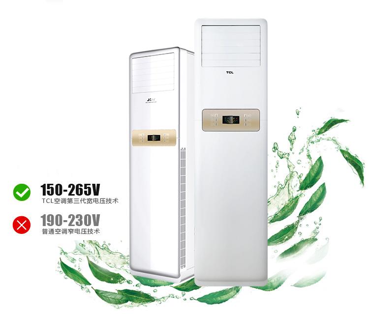 tcl 大3匹 小风神系列柜式时尚冷暖定频空调 kfrd-72lw/el23图片